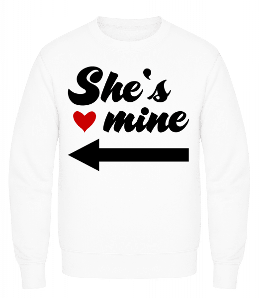 She Is Mine - Men's Sweatshirt AWDis - White - Vorn