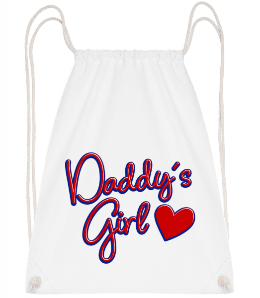 Daddy's Girl - Drawstring Backpack - White - Vorn