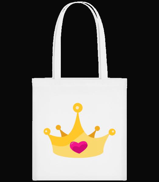 Princess Crown Yellow - Carrier Bag - White - Vorn