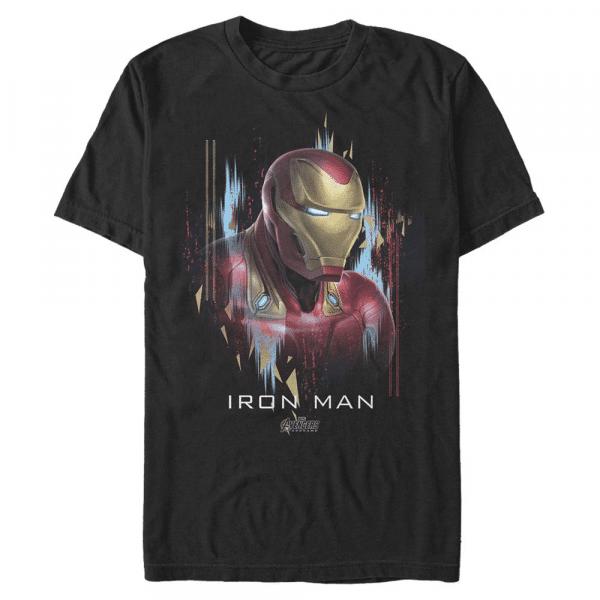 Ironman Portrait Iron Man - Marvel Avengers Endgame - Men's T-Shirt - Black - Front