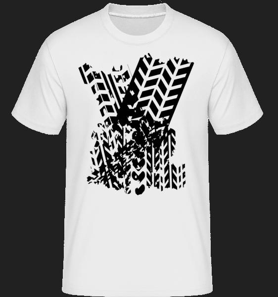 Tires Symbol -  Shirtinator Men's T-Shirt - White - Vorn