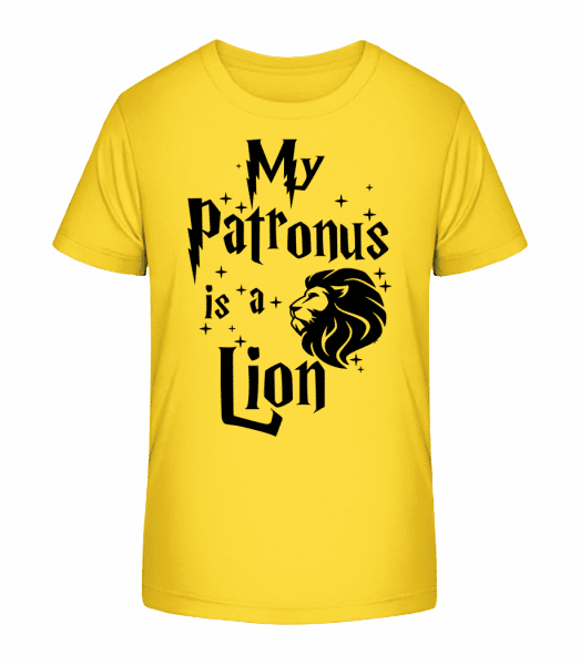 My Patronus Is A Lion - Kid's Premium Bio T-Shirt - Yellow - Vorn