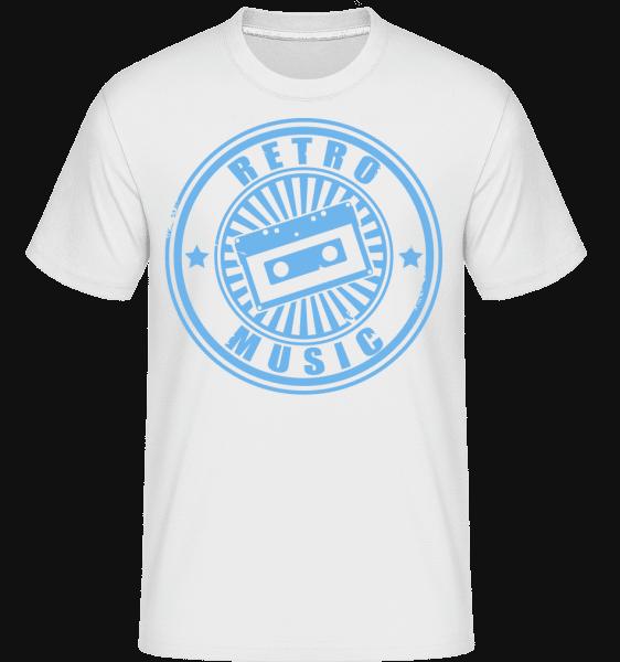 Retro Music Logo -  Shirtinator tričko pre pánov - Biela - Predné