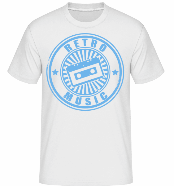 Retro Music Logo -  Shirtinator Men's T-Shirt - White - Vorn