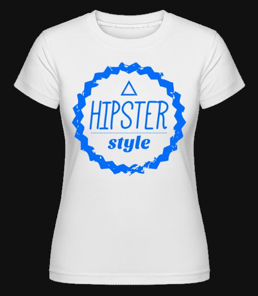 Hipster Style Logo -  Shirtinator tričko pro dámy - Bílá - Napřed
