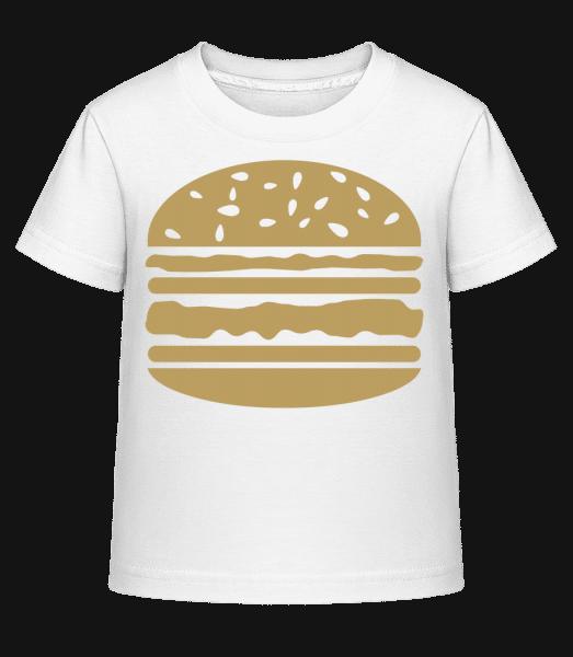 Served Burger - Kid's Shirtinator T-Shirt - White - Vorn