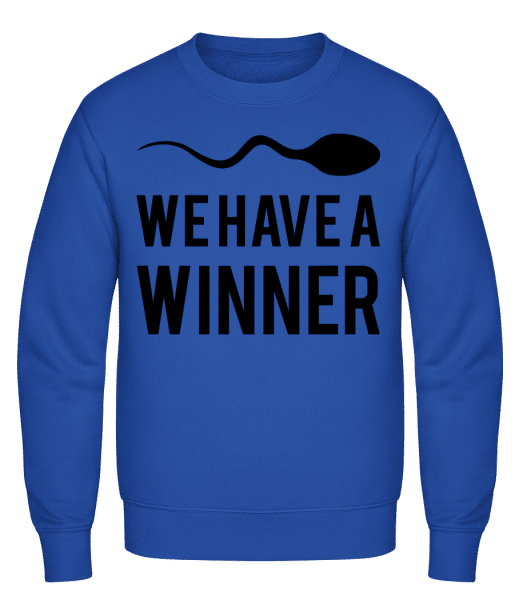 Sperm Winner - Classic Set-In Sweatshirt - Royal Blue - Vorn