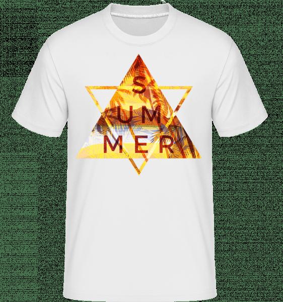 Summer Icon Triangle -  Shirtinator Men's T-Shirt - White - Vorn