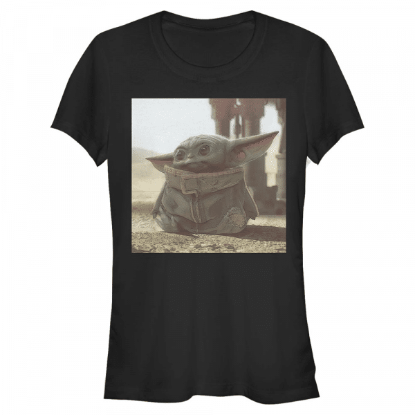 Tiny Green The Child - Star Wars Mandalorian - Women's T-Shirt - Black - Front