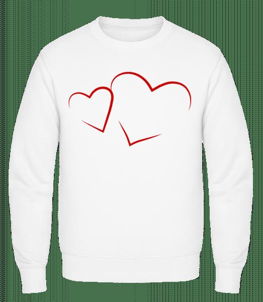 Hearts - Classic Set-In Sweatshirt - White - Vorn