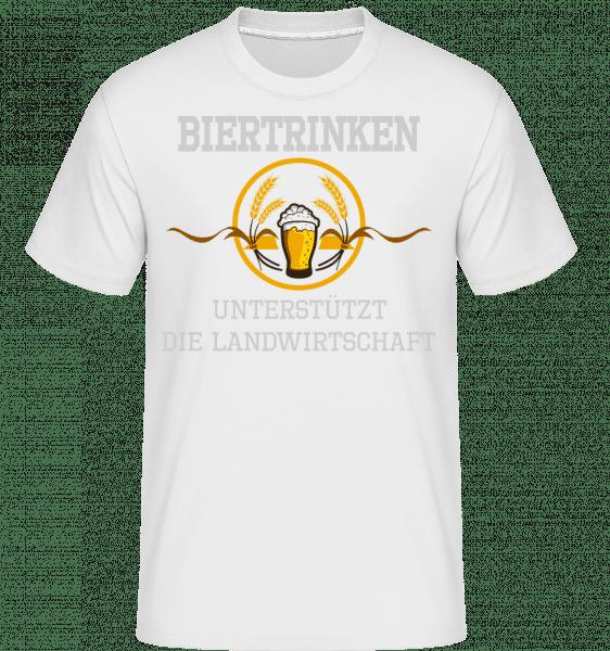 Bier Trinken - Shirtinator Männer T-Shirt - Weiß - Vorn