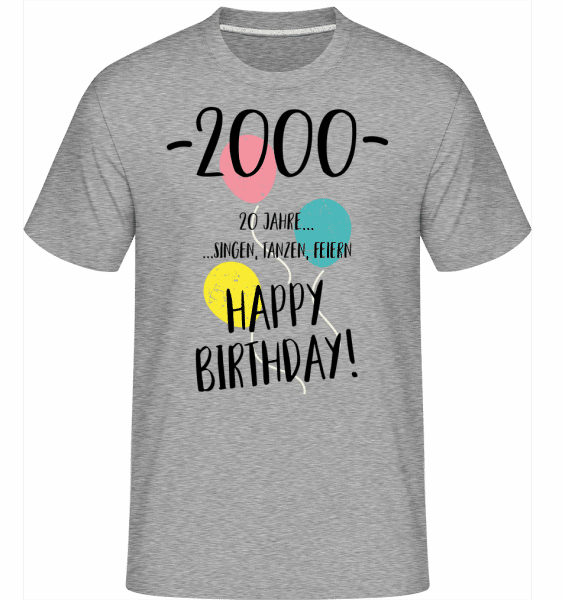 2000 20 years -  Shirtinator Men's T-Shirt - Heather grey - Vorn