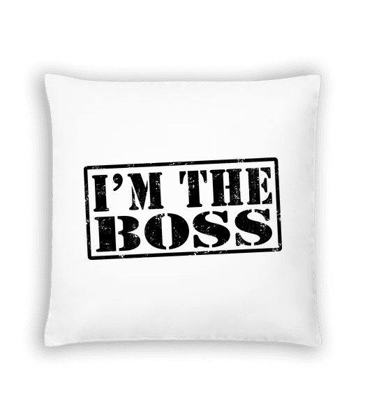 I'm The Boss - Cushion - White - Vorn