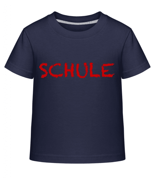 Schule - Kinder Shirtinator T-Shirt - Marine - Vorne