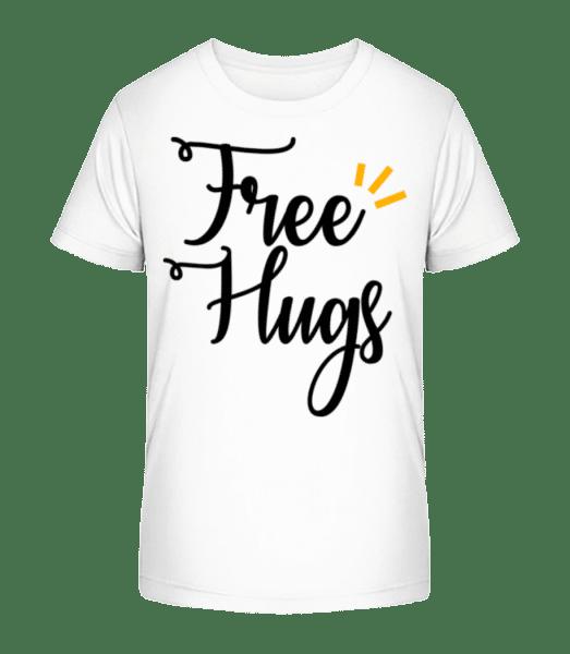 Free Hugs - Kid's Premium Bio T-Shirt - White - Vorn