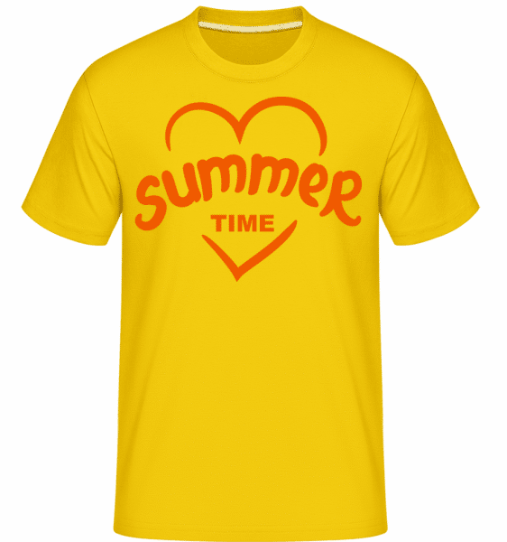 Summertime Heart -  Shirtinator Men's T-Shirt - Golden yellow - Vorn