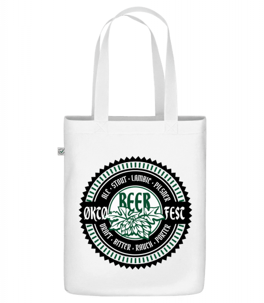 "Oktoberfest Beer - Organic ""Earth Positive"" tote bag - White - Vorn"