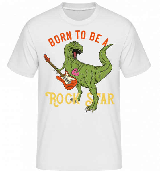 Born To Be A Rock Star -  Shirtinator Men's T-Shirt - White - Front