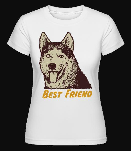 Dog Best Friend -  Shirtinator Women's T-Shirt - White - Vorn