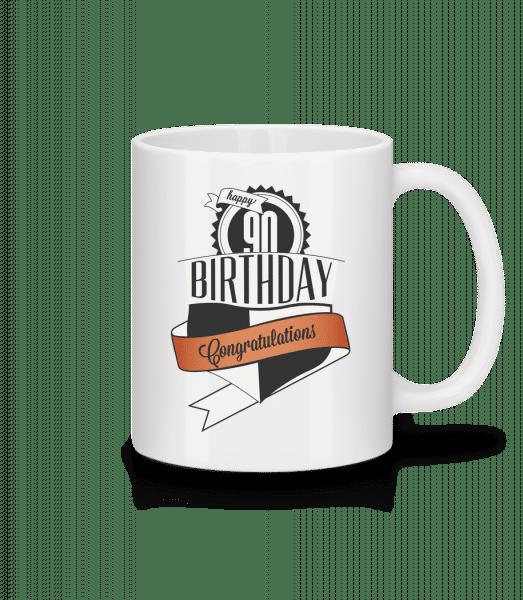 90 Birthday Congrats - Mug - White - Vorn