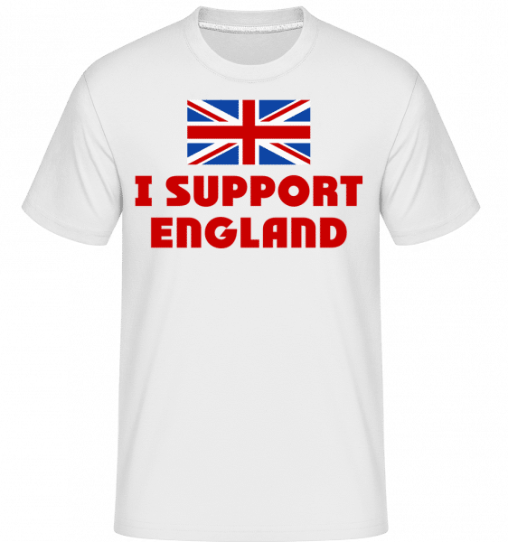 I Support England -  Shirtinator Men's T-Shirt - White - Vorn