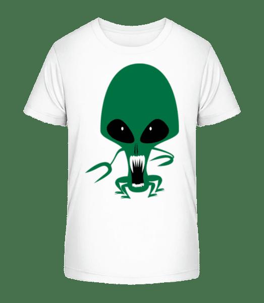 Alien Octopus - Kid's Premium Bio T-Shirt - White - Vorn