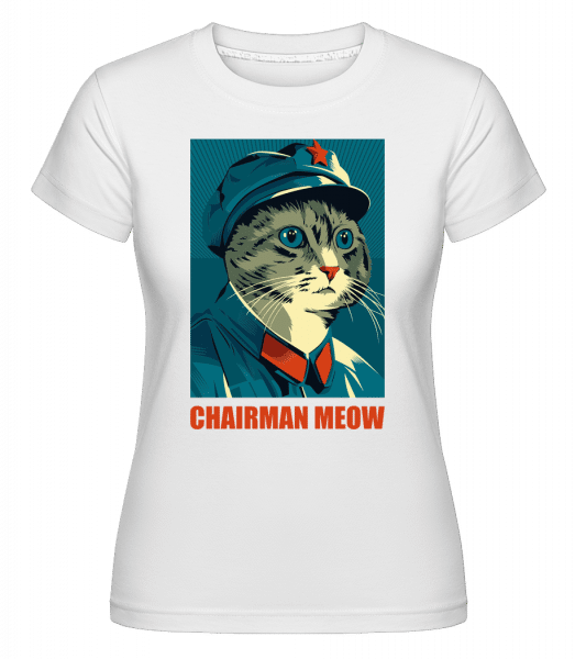 Chairman Meow -  Shirtinator Women's T-Shirt - White - Vorn