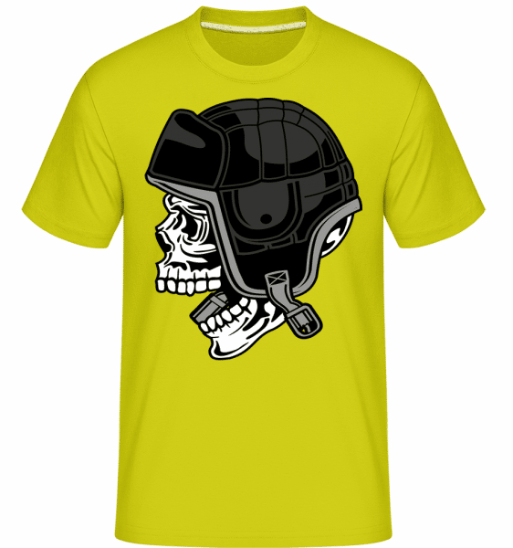 Skull Helmet -  Shirtinator Men's T-Shirt - Lime - Vorn