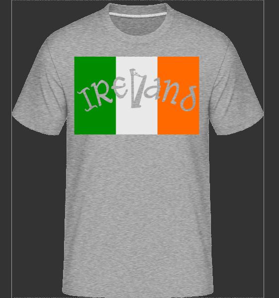 Ireland Flag -  Shirtinator Men's T-Shirt - Heather grey - Vorn