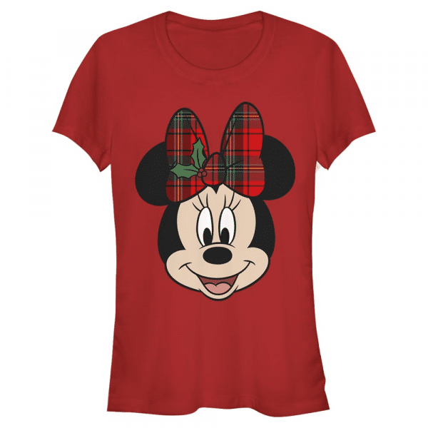 Big Minnie Holiday Minnie Mouse - Disney Mickey - Women's T-Shirt - Red - Front