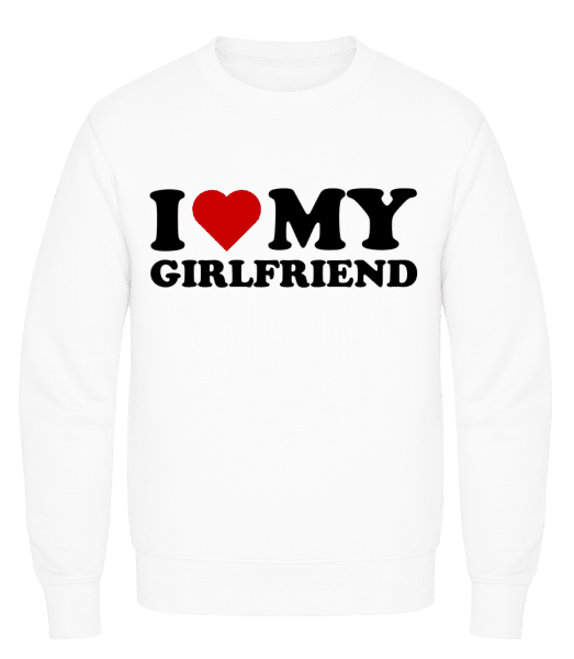 I Love My Girlfriend - Men's Sweatshirt AWDis - White - Vorn