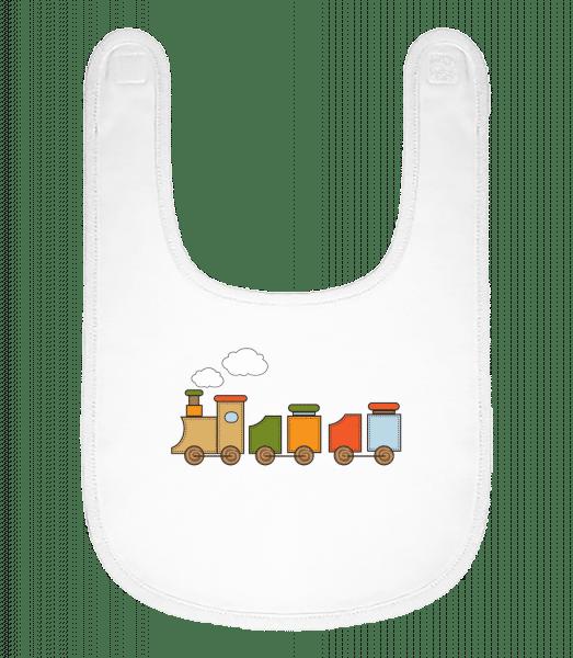 Baby Comic - Locomotive - Baby Bib - White - Vorn