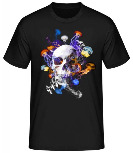 Skull Jellyfish - Men's Basic T-Shirt - Black - Front