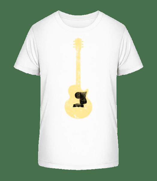 Guitar See-Through - Detské Premium Bio tričko - Biela - Predné