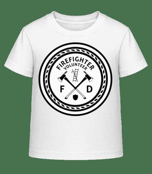 Firefighter - Kid's Shirtinator T-Shirt - White - Vorn