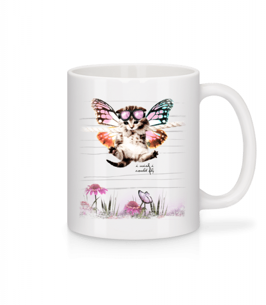 Butterfly Cat - Mug - White - Vorn