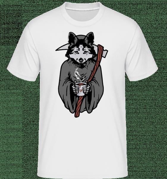Vlk se Scythe Gray -  Shirtinator tričko pro pány - Bílá - Napřed