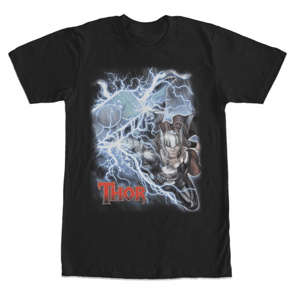 Thor - Marvel Avengers - Men's T-Shirt - Black - Front