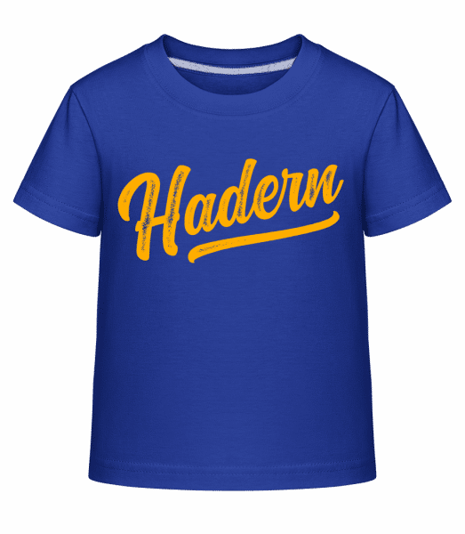 Hadern Swoosh - Kinder Shirtinator T-Shirt - Royalblau - Vorn
