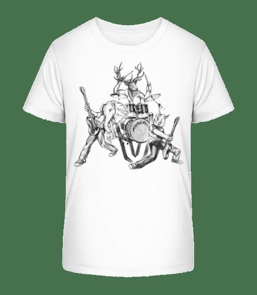 Wild Band - Kid's Premium Bio T-Shirt - White - Vorn