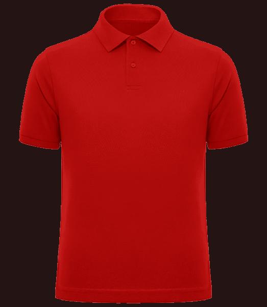 Men's Heavy Piqué Polo Shirt - Red - Front