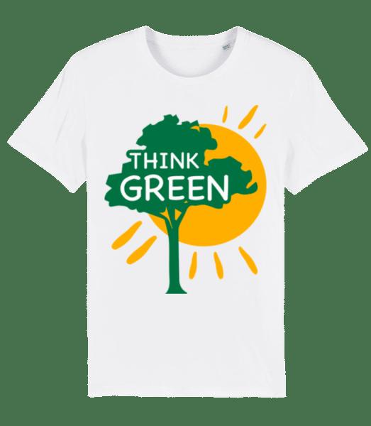 Think Green - Men's Premium Organic T-Shirt Stanley Stella - White - Vorn