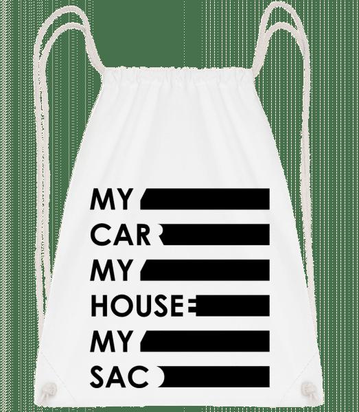 My Car, My House, My Sac - Sac à dos sport - Blanc - Vorn