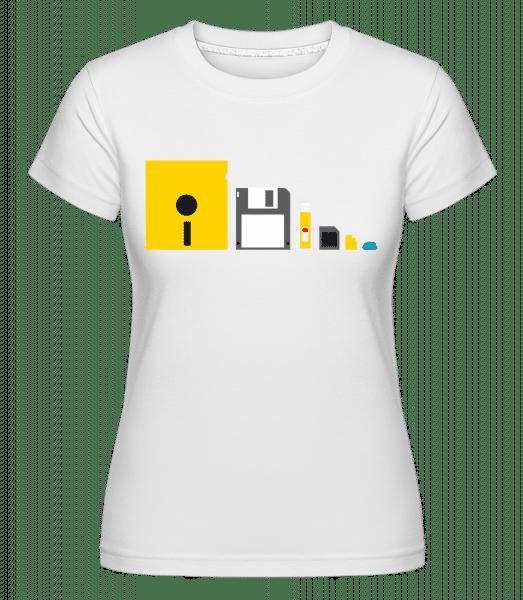 Evolution Of Technology -  Shirtinator Women's T-Shirt - White - Vorn