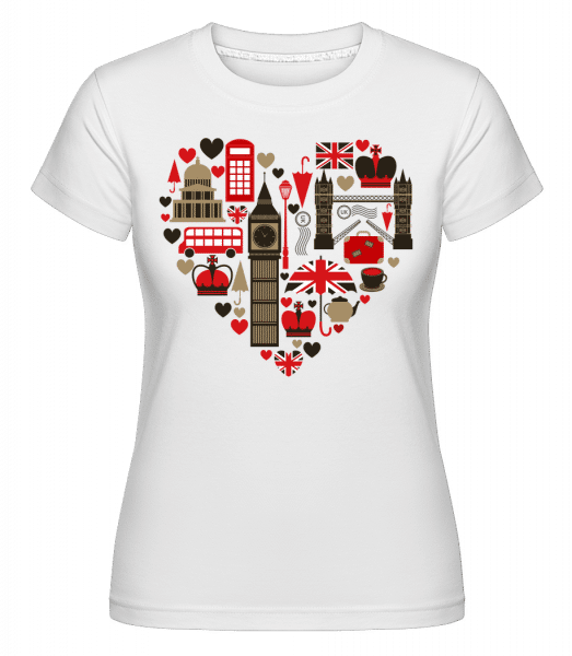 London Love Heart - Shirtinator Frauen T-Shirt - Weiß - Vorn