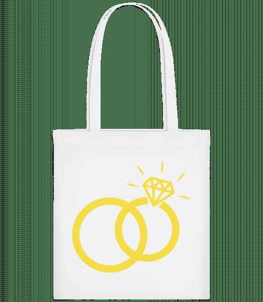Wedding Rings - Carrier Bag - White - Vorn