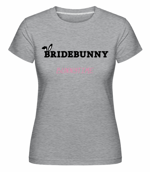 Bridebunny Bunnytime -  Shirtinator Women's T-Shirt - Heather grey - Front