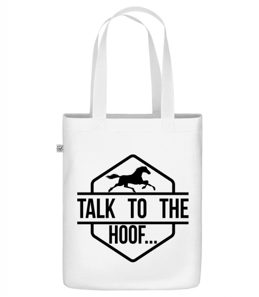 """Talk To The Hoof - Organic """"Earth Positive"""" tote bag - White - Vorn"""