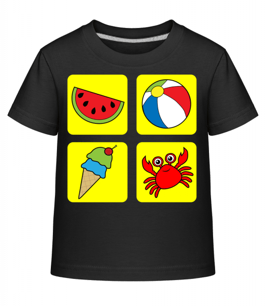 Kid's Summer Colourful - Kid's Shirtinator T-Shirt - Black - Vorn