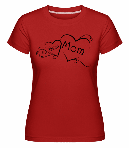 Best Mom -  Shirtinator Women's T-Shirt - Red - Vorn